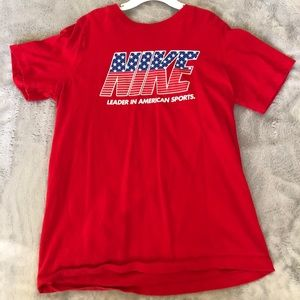 Red Nike boys t-shirt